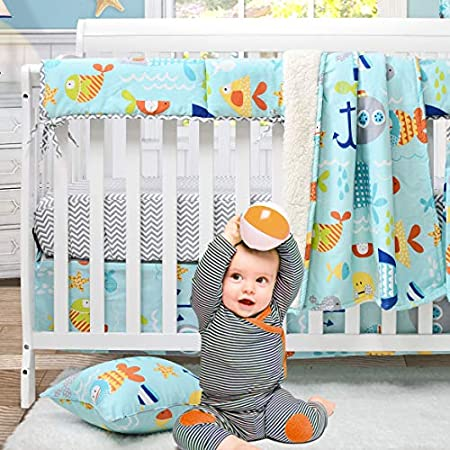 51XGPZSz%2BiL._SS450_ Nautical Crib Bedding and Beach Crib Bedding
