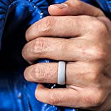ThunderFit Silicone Rings, 7 Pack Wedding Bands for Men & Women