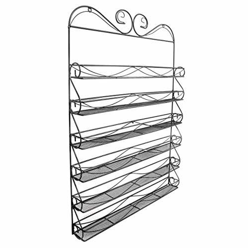 Sorbus 6 Tier Nail Polish Rack & Multi-Purpose Wall Organizer Display - Metal Vintage Style Mountable Shelf Holds at Least 72 Nail Polishes - Great for Home, Business, Salon, Spa, and More by Sorbus (Image #2)