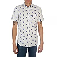 Nasa Logo White Woven Button Up Shirt