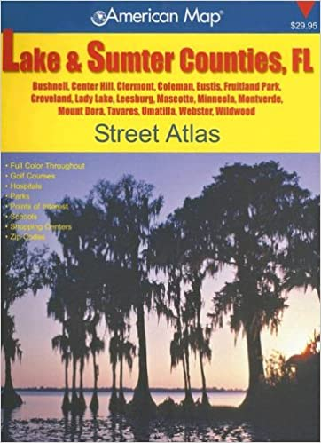 Center Hill Florida Map.Lake Sumter Counties Fl Street Atlas Bushnell Center Hill