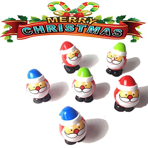 Wind Up Toys TOYMYTOY Santa Claus Walking Toys Christmas Party Favors for Kids Pack of 4 by TOYMYTOY (Image #1)