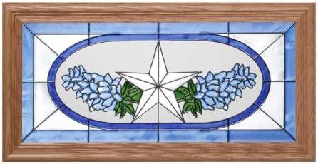 Silver Creek Cardinal Painted Glass Panel C-026