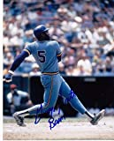 """GEORGE SCOTT MILWAUKEE BREWERS""""BOOMER"""" ACTION SIGNED 8x10 - Autographed MLB Photos"""