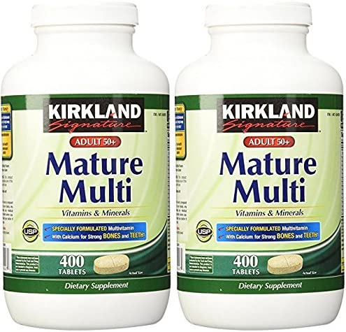 Kirkland Signature Adults, 50 plus Mature Multi Vitamins Minerals, 800-Count Tablets