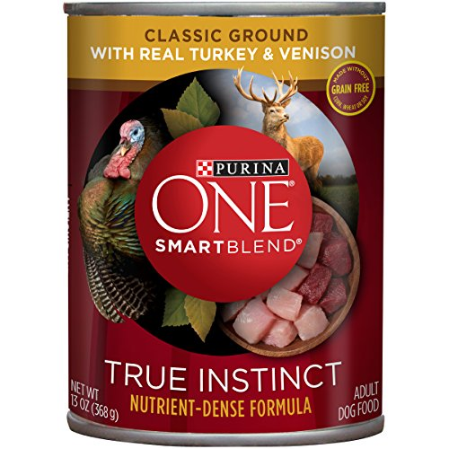 Purina ONE SmartBlend True Instinct Natural Classic Ground Grain-Free with Real Turkey & Venison Dog Food , 13 oz. Can  - 12-Pack