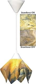 product image for Jezebel Signature Flame Pendant Small. Hardware: White. Glass: Strawflower