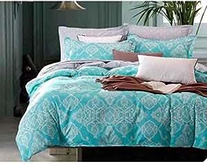 King Size, Cotton,Floral Pattern, Multi Color - Duvet Covers
