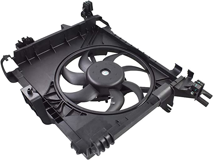 BOXI Engine Cooling Fan Assembly For 2007 2008 2009 2010 2011 2012 2013 2014 2015 Smart Car Fortwo 451 Replaces 0002009323
