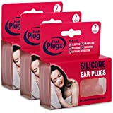 21 Pairs (X3 Packs) Of Skin Tone Adult Mouldable, Silicone Putty, Swimming and Sleeping Ear Plugs