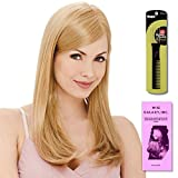 Victoria LF Line (Human Hair) by Estetica, Wig Galaxy Hair Loss Booklet & Magic Wig Styling Comb/Metal Pick Combo (Bundle - 3 Items), Color Chosen: R8-26H