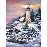 Christmas Lighthouse - A 1000 Piece Jigsaw Puzzle by SunsOut