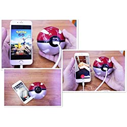 STrATO® Pokemon Go Ball Portable Charger PokeCharge LED Power Bank Pocket Monster Balls 3 Colors (RED)