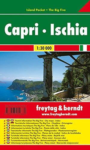 Capri Ischia (ITALY) Pocket City Map 1:30K FB (English, French and German (French Capris)