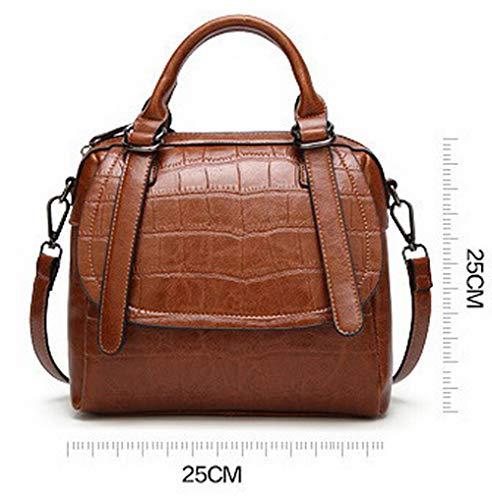 Marrone tracolla VogueZone009 a Borse tracolla Luccichio Marrone CCALBP181587 Shopping Donna a Borse Fibbia OrOx7St