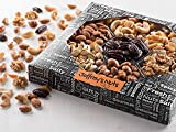 Jeffrey's Nuts Christmas Nut & Snacks Gift Basket Assortment | 7 Variety Gourmet Party Food Gifts Prime Baskets for Men, Women, Holiday, Thanksgiving, Valentines, Fathers Mothers Day, Vegan Corporate