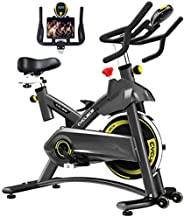 Cyclace Exercise Bike Stationary 330 Lbs Weight Capacity- Indoor Cycling Bike with Comfortable Seat Cushion, T
