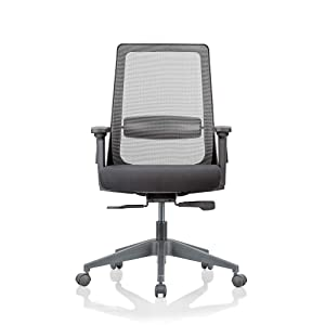 Featherlite Amaze Project Medium Back Arm Chair (Black)