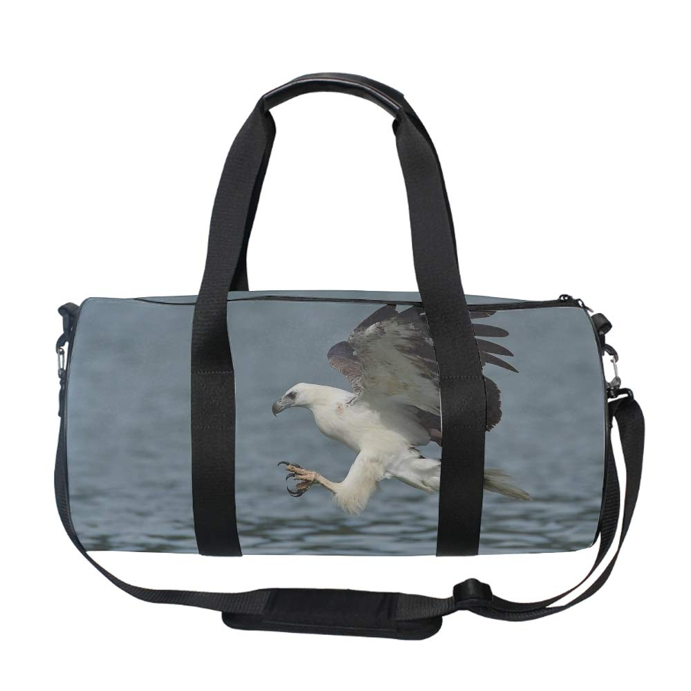 Oversized White Stork Travel Tote Luggage Weekend Duffel Bag