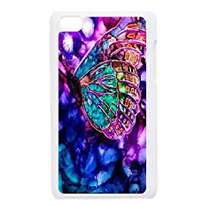 High Quality Phone Back Case Pattern Design 16Colorful Butterfly- FOR IPod Touch 4th