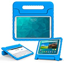 Samsung Galaxy Tab E 9.6 kids case, COOPER DYNAMO Rugged Heavy Duty Children's Boys Girls Bumper Drop Proof Protective Carry Case Cover + Handle, Stand & Screen Protector for SM-T560 T561 Blue