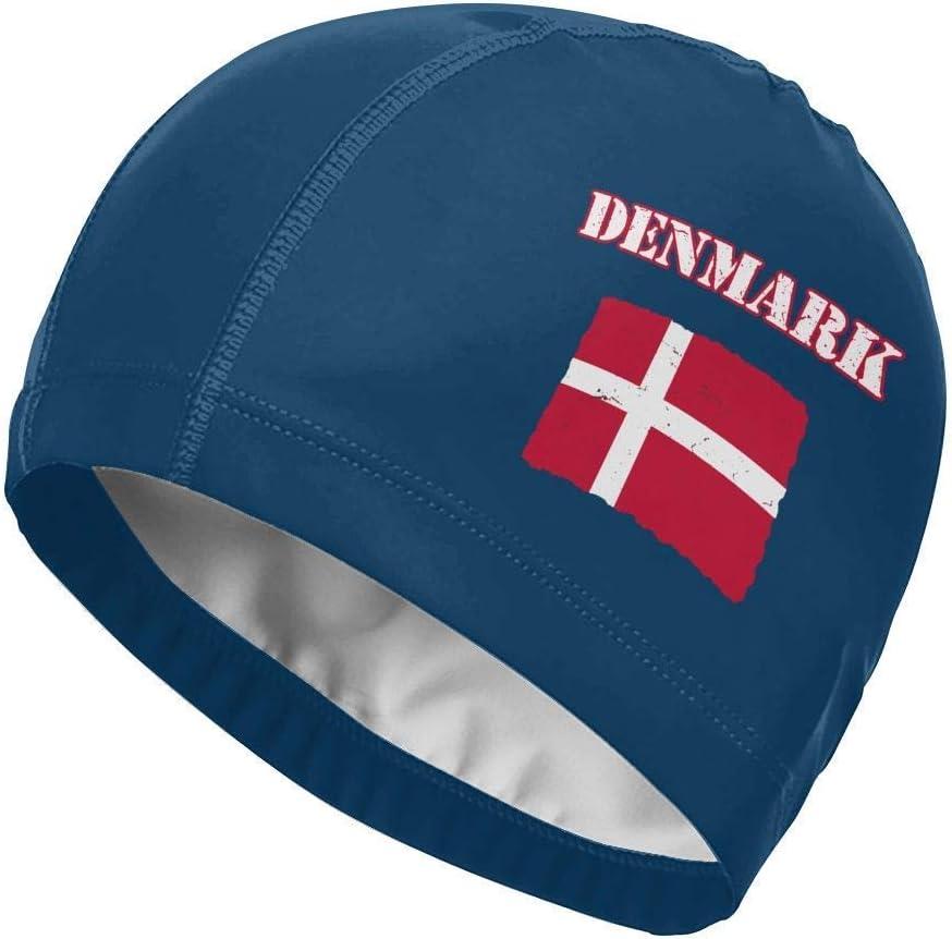 Gorro de baño Swim 0x925, gorro de baño, gorro de baño, gorro de baño con bandera danesa de Dinamarca para hombres y mujeres - gorros de baño divertidos
