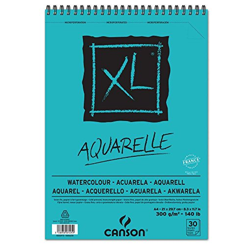 Canson Aquarellblock XL A4, 300g/qm, 30 Blatt