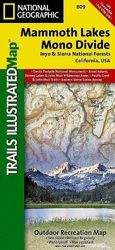 National Forest Trail Map (Mammoth Lakes, Mono Divide [Inyo and Sierra National Forests] (National Geographic Trails Illustrated Map))