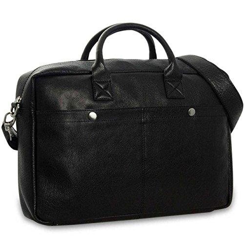 ordinateurs Besace à bandoulière sac pour Sacs portables portadocumenti Élégant cuir main Valigetta noir STILORD en Sac q0pwRRXa