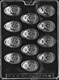Cybrtrayd E413 Decorated Eggs Chocolate/Candy Mold with Exclusive Cybrtrayd Copyrighted Chocolate Molding Instructions