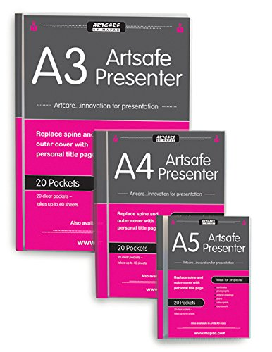 Artcare Kü nstlermappe (15704010 23 x 2 x 13 cm, A5, Synthetisches Material Artsafe Presenter, Transparent Mapac