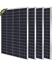 HQST 100W 12V Monocrystalline Solar Panel, High Efficiency Module PV Power for Battery Charging Boat, Caravan, RV and Any Other Off Grid Applications