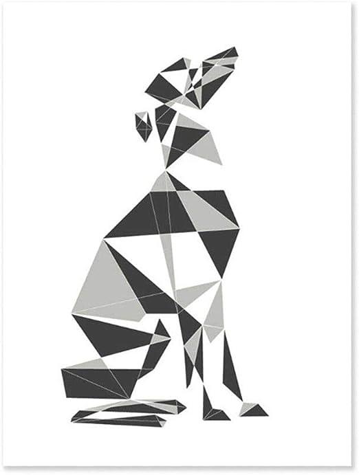 "Purple Deer Abstract Watercolor Painting 11/"" x 14/"" Art Print by Artist DJ Rogers"