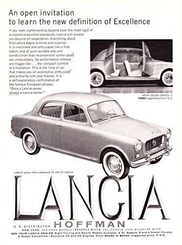 Amazon 1959 Lancia Appia Sedan Series Iii An Open Invitation