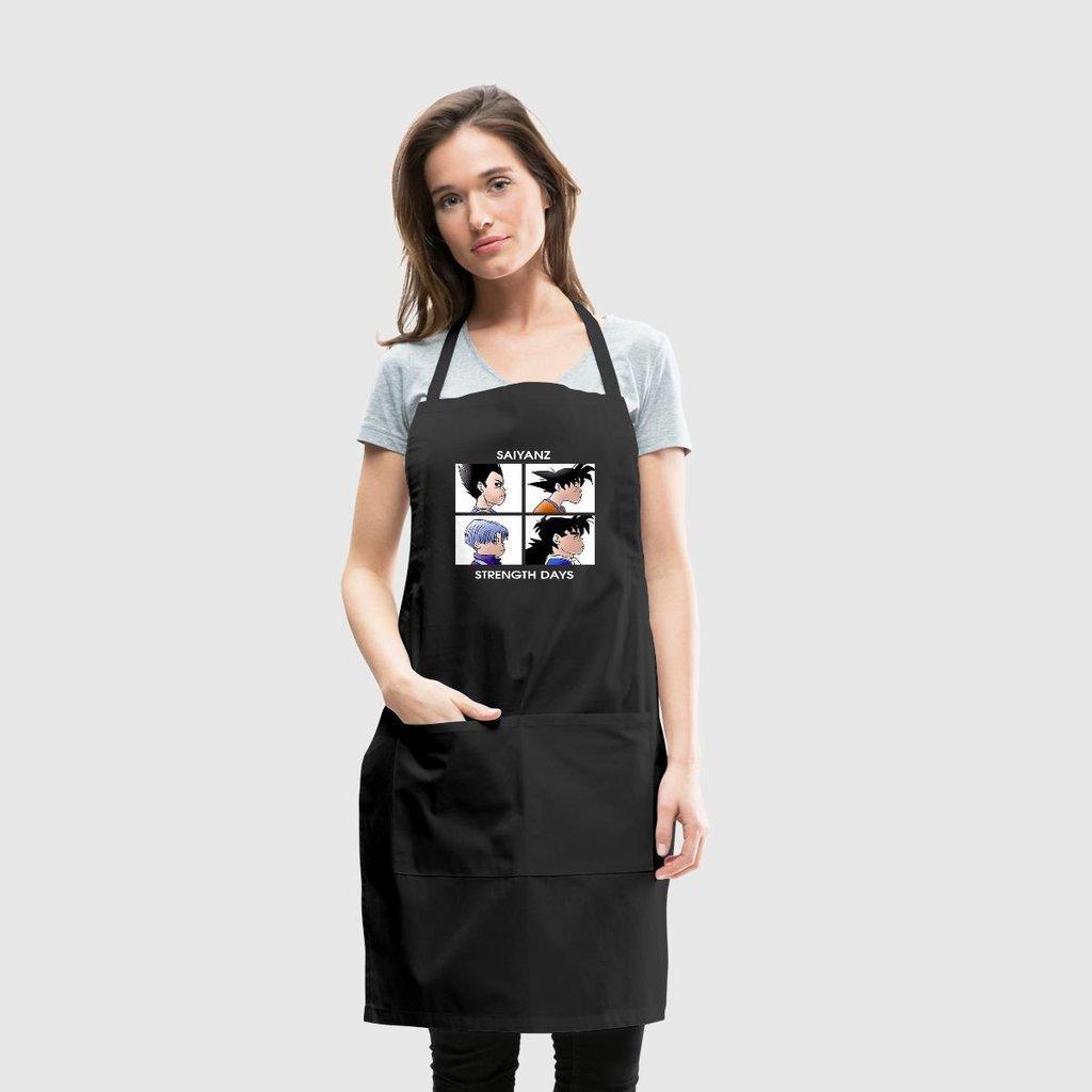 pottelove Saiyans GorillazドラゴンボールCooking Polyeste料理人キッチンエプロン男性用女性用、ブラック   B07F3V9ZKN