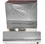 E-Retailer's Silver P.V.C Split Air Condtioner Cover For 1.5 Tonn (UNIVERSAL)