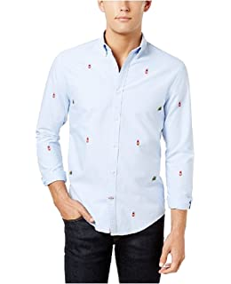 09822dc2 Tommy Hilfiger Men's New England Solid Oxford Shirt white med at ...