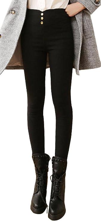 Cn /_ Infantil Cálido de Invierno Lana Gruesa Leggings Entallado Pantalones