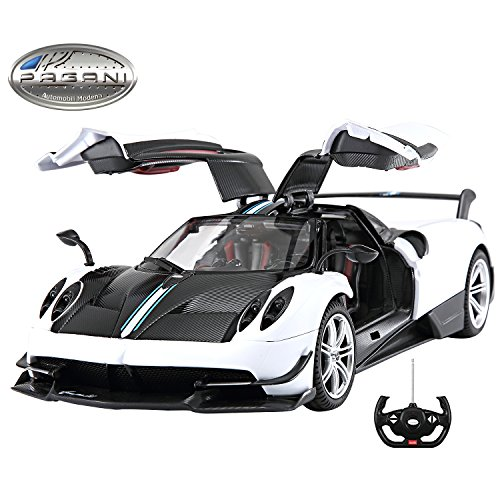 Licensed RC Car 1:14 Scale Pagani Huayra BC | Rastar Radio Remote Control 1/14 RTR Super Sports Car Model w/Open Doors (White)