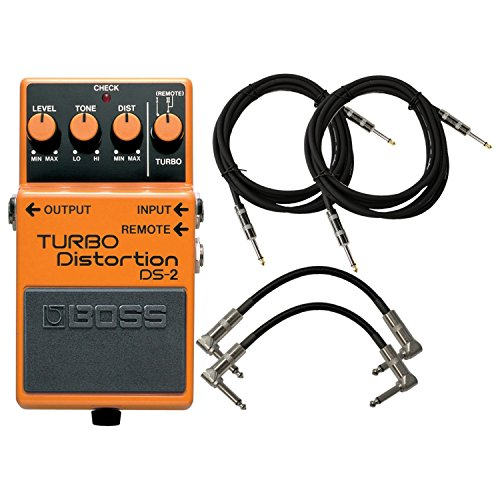 BOSS DS-2 Turbo Distortion Pedal w/ 4 Cables