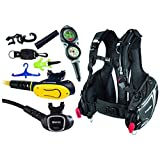 Mares Scuba Diving Computer, Regulator Set, Octo Complete Travel Package w/ BCD