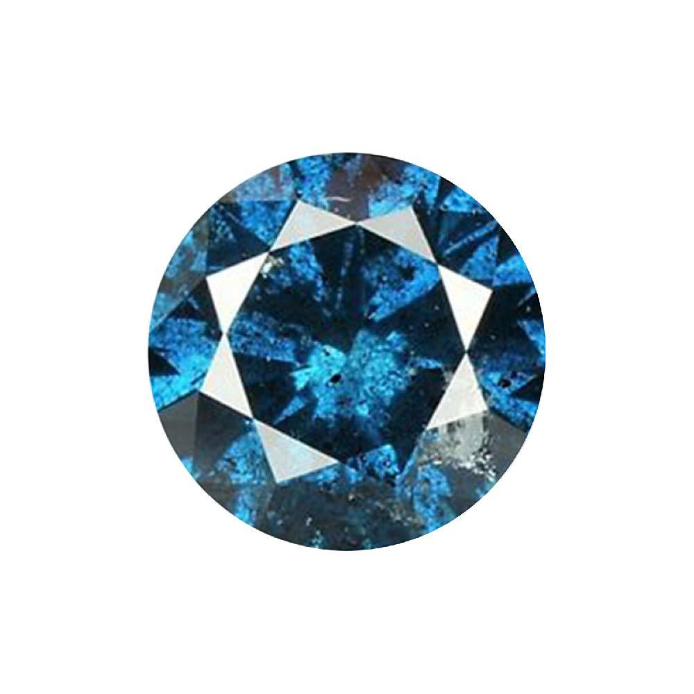 0.11 ct Blue Diamond Round Brilliant Cut Loose Diamond Natural Earth-mined Enhanced (I1-I2)