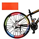 Panda Superstore [ORANGE] Unique Colour 6 Pics Reflective Bike Rim Sticker Wheel Decal Sticker