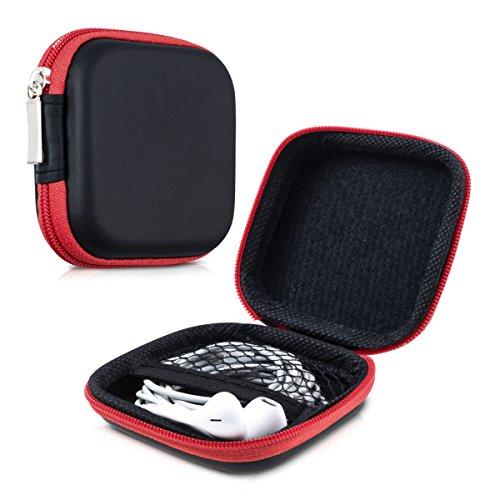kwmobile Robuste Tasche Case für Kopfhörer in Rot - Hochwertige Schutzhülle für Ihre Kopfhörer