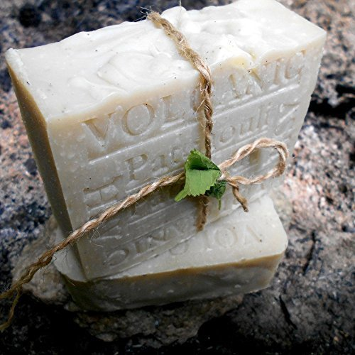 Artisan Volcanic Ash Natural 7+ oz Bar Soap with Cocoa Butter and Patchouli Handmade CA !
