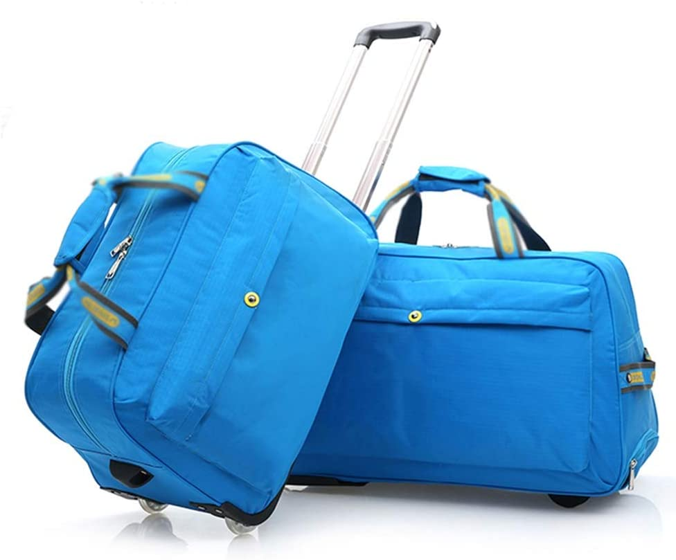Color : Blue, Size : 573635cm Suitcase Check-in Hold Luggage Travel Trolley Case Trolley Bag Lightweight Expandable Strong Luggage Cabin Bags High Capacity Portable Leisure Foldable GAOFENG