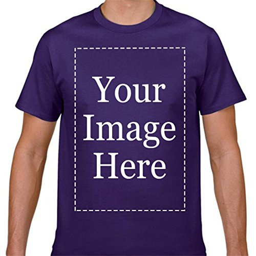 Add Your Own Custom Text Personalized Name Image Or Message Men T Shirts Purple ()