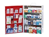 Medique Products 734M1 4-Shelf Metal First Aid Cabinet, Filled