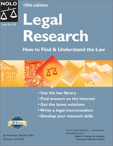 Download Legal Research: How to Find & Understand the Law ebook