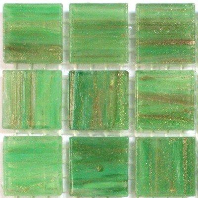 Mosaic tiles - 225 Gold Green Vitreous Glass Mosaic 20mm Tiles GA24 Hobby Island